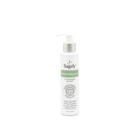 Image of Sagely Naturals CBD infused Relief and Recovery Cream - 4oz - DiscoverCBD.com - 3