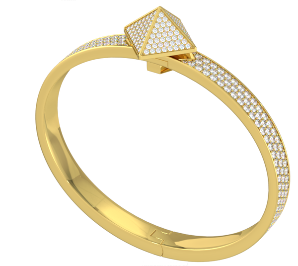 Yellow Gold Diamond Pave Trunfio Universe™ Bracelet - trunfio universe  - 2