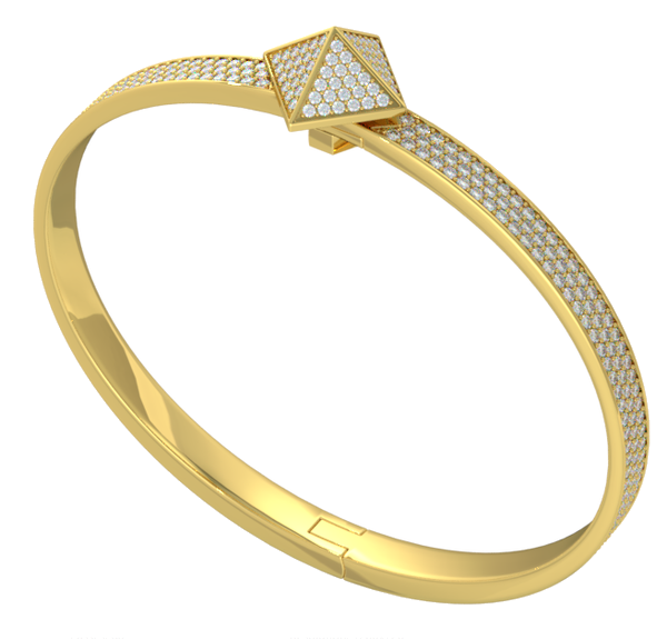 Yellow Gold Diamond Pave Trunfio Universe™ MINI Bracelet - trunfio universe  - 2