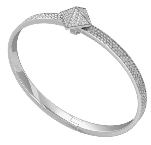 White Gold Diamond Pave Trunfio Universe™ MINI Bracelet - trunfio universe  - 2