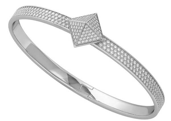White Gold Diamond Pave Trunfio Universe™ MINI Bracelet - trunfio universe  - 1