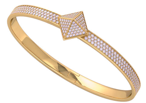 Rose Gold Diamond Pave Trunfio Universe™ MINI Bracelet - trunfio universe  - 1