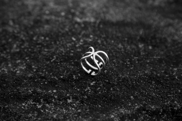 White Gold 'Universi' Wrap Ring - trunfio universe  - 5