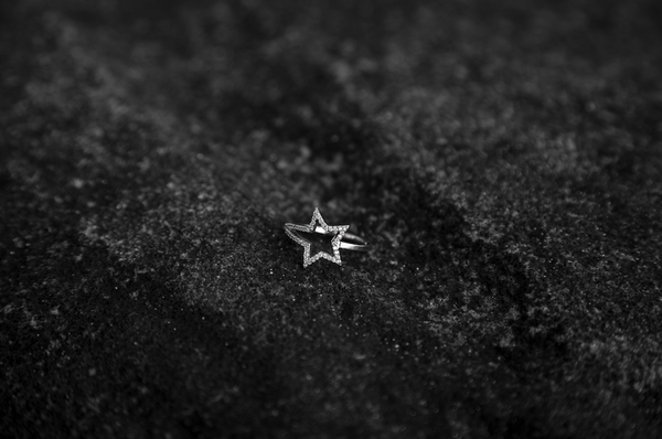 White Gold Diamond Shooting Star Ring - trunfio universe  - 4