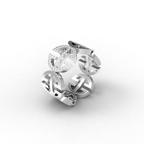 White Gold Diamond 'Universi' Ring (UNISEX) - trunfio universe  - 1