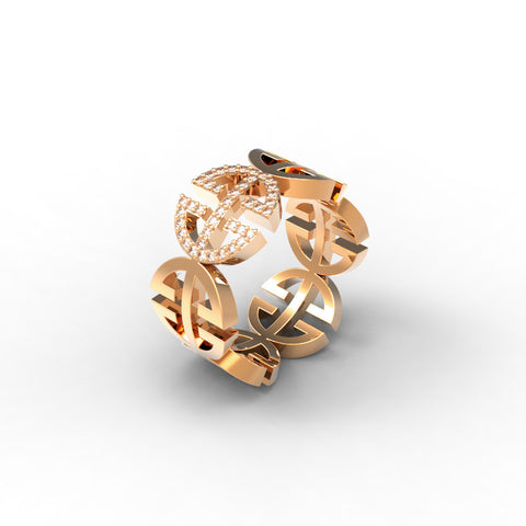 Rose Gold Diamond 'Universi' Ring (UNISEX) - trunfio universe  - 1