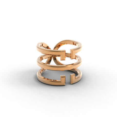 Rose Gold 'Universi' Wrap Ring - trunfio universe  - 1