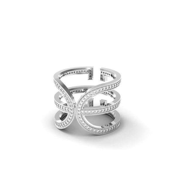 White Gold Diamond 'Universi' Wrap Ring - trunfio universe  - 2