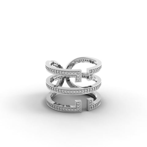 White Gold Diamond 'Universi' Wrap Ring - trunfio universe  - 1