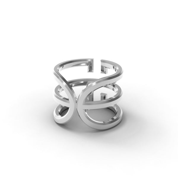 White Gold 'Universi' Wrap Ring - trunfio universe  - 2