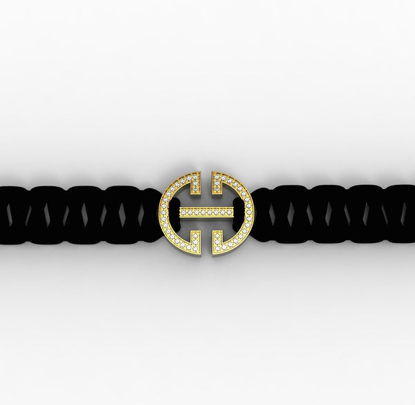 Yellow Gold Diamond 'Universi' Bracelet (UNISEX) - trunfio universe  - 1
