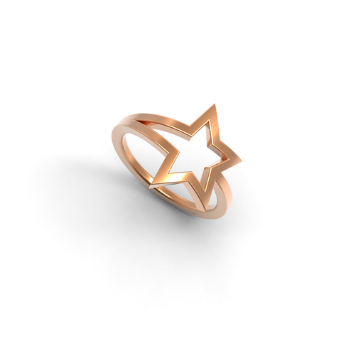 Rose Gold Shooting Star Ring - trunfio universe  - 1