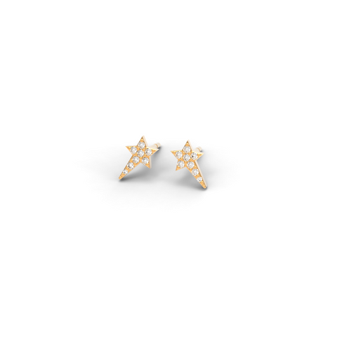 "Rose Gold Diamond ""Wish upon a Star"" Studs - trunfio universe  - 1"