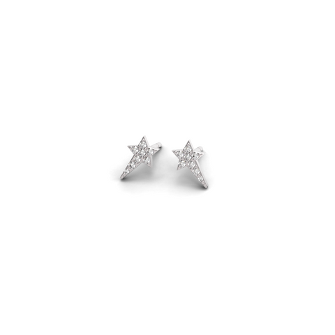 "White Gold Diamond ""Wish upon a Star"" Studs - trunfio universe  - 1"