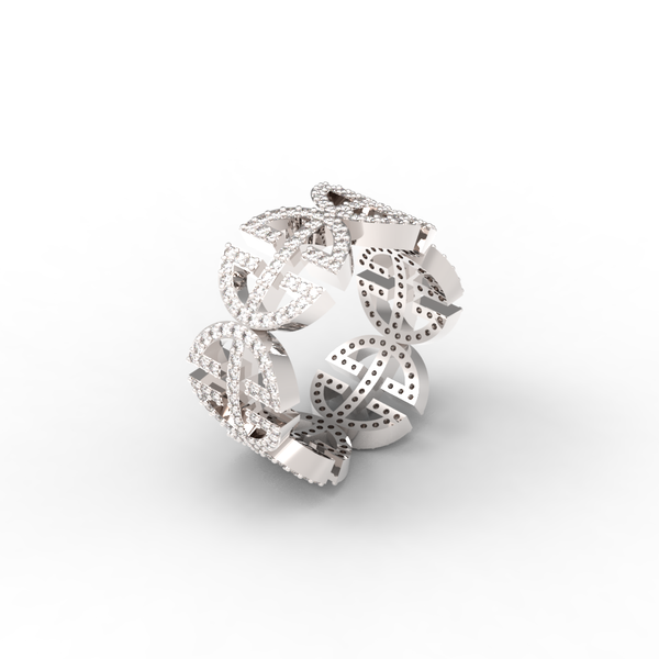 White Gold Full Pave 'Universi' Ring (UNISEX) - trunfio universe  - 1