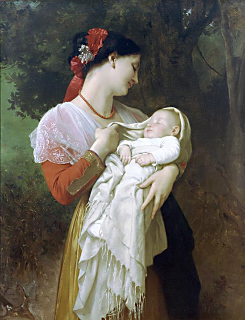 William Adolphe Bouguereau-Maternal Admiration