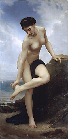 William Adolphe Bouguereau-After The Bath 1875