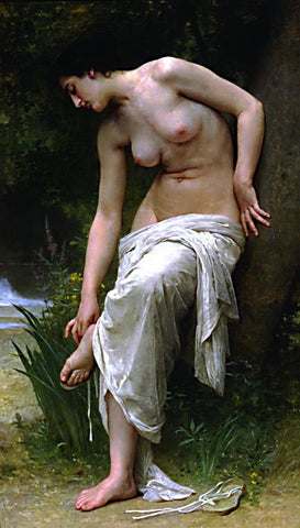 William Adolphe Bouguereau-After The Bath II
