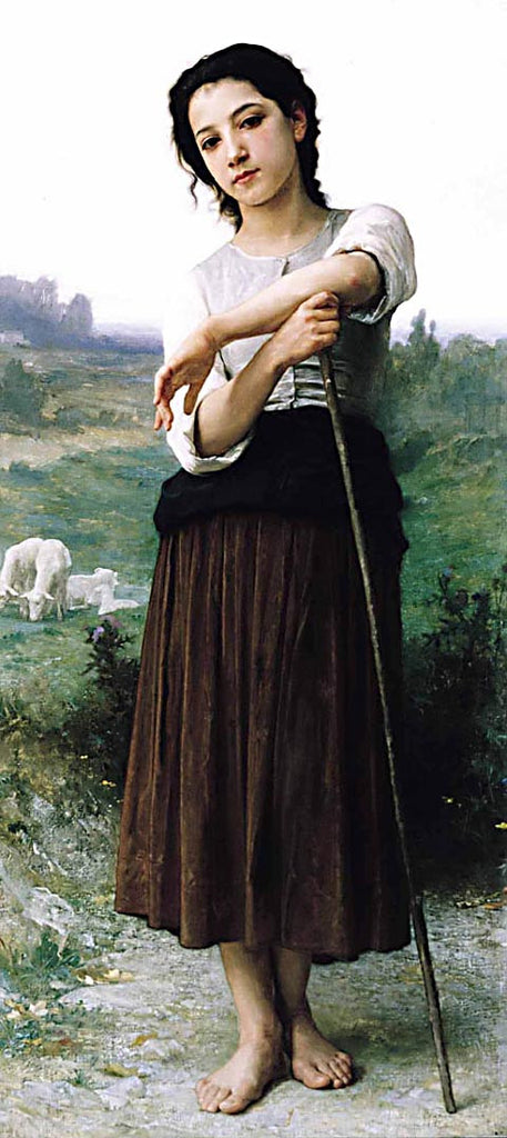 William Adolphe Bouguereau-Shepardess