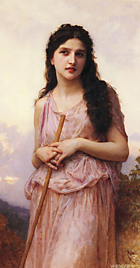 William Adolphe Bouguereau-Meditation