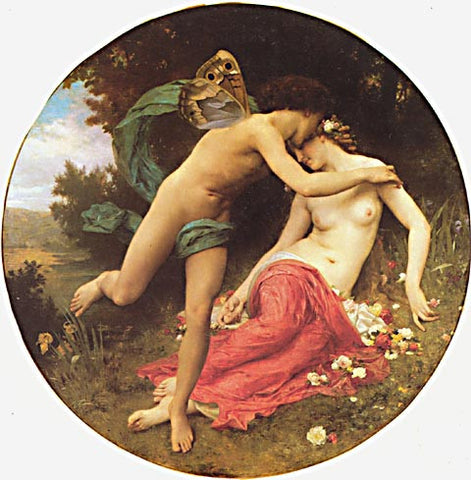 William Adolphe Bouguereau-Cupid And Psyche