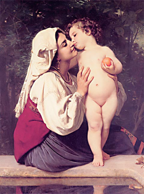 William Adolphe Bouguereau-The Kiss