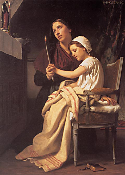 William Adolphe Bouguereau-The Thanks Offering