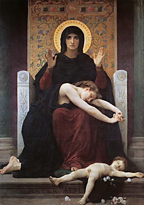 William Adolphe Bouguereau-The Virgin Of Consolation