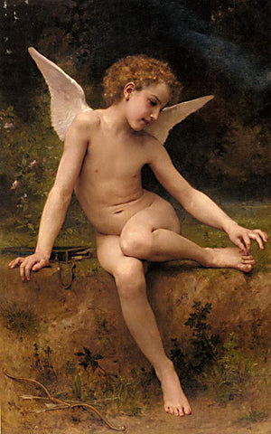 William Adolphe Bouguereau-Love Has A Spine