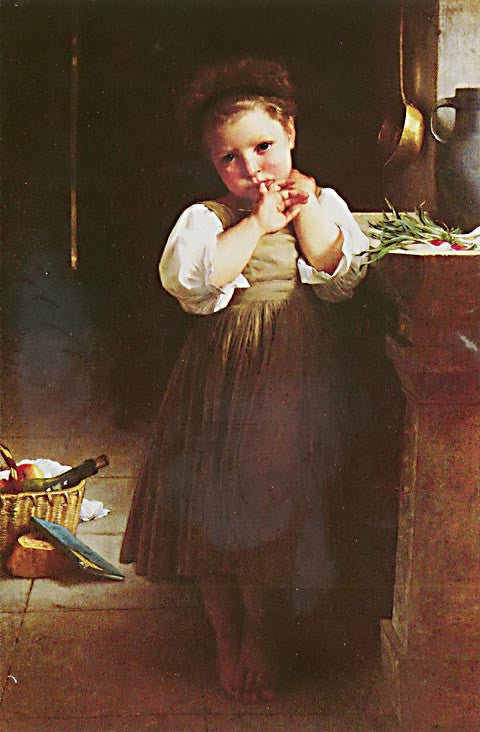 William Adolphe Bouguereau-The Little Sulk