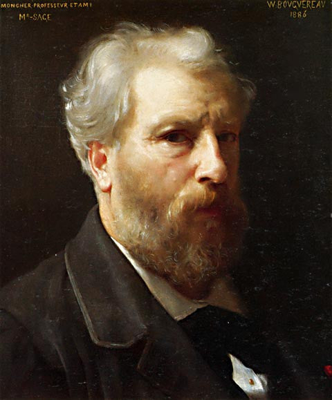 William Adolphe Bouguereau-Self Portrait Presented to M Sage