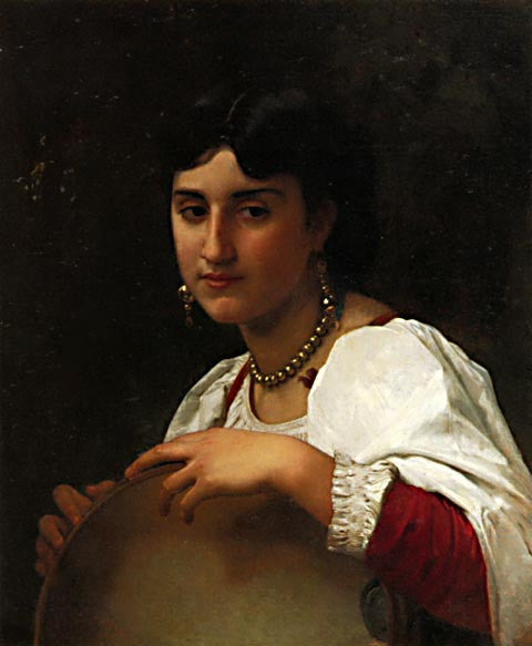 William Adolphe Bouguereau-Italian Girl With Tambourine