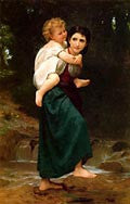 William Adolphe Bouguereau-The Crossing Of The Ford