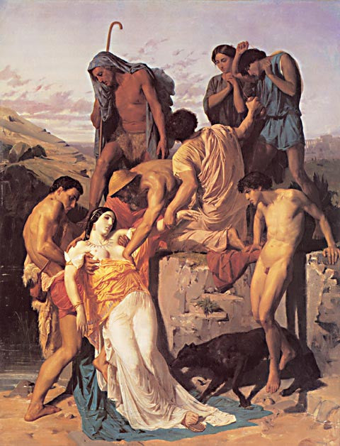 William Adolphe Bouguereau-Zenobia Found By Shepards On The Banks Of The Araxes