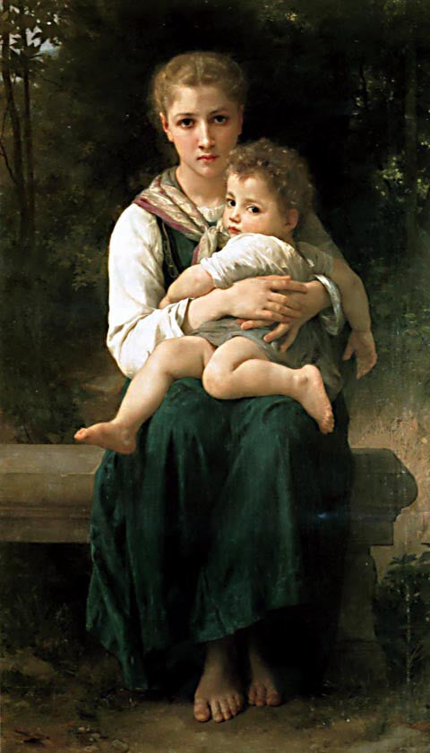 William Adolphe Bouguereau-Two Sisters