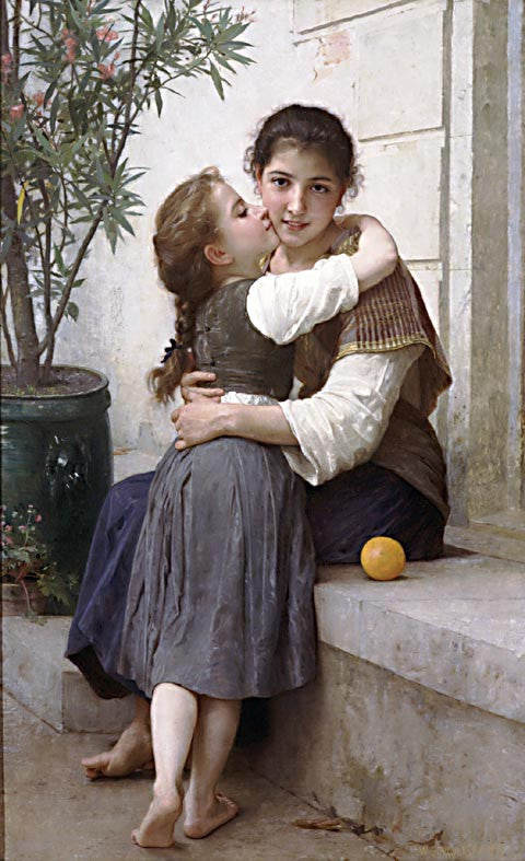 William Adolphe Bouguereau-A Little Coaxing