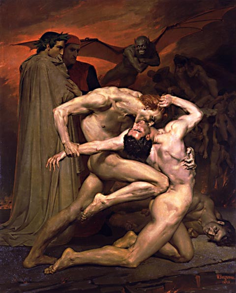 William Adolphe Bouguereau-Dante And Virgil In Hell