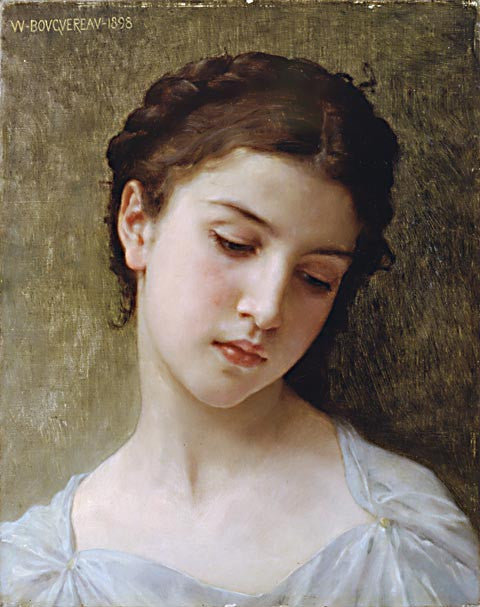 William Adolphe Bouguereau-Study Head Of A Girl 1898