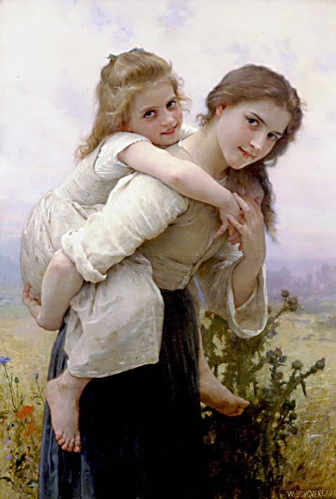 William Adolphe Bouguereau-Not Too Much To Carry