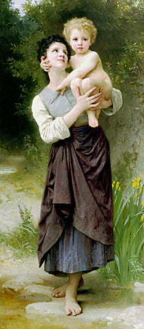 William Adolphe Bouguereau-Brother And Sister 1887