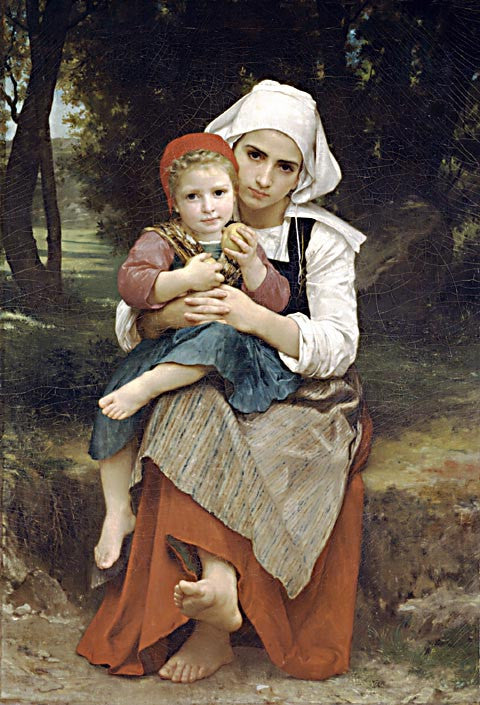 William Adolphe Bouguereau-Brother And Sister 1871