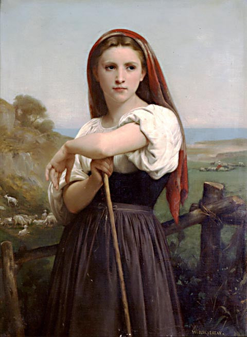 William Adolphe Bouguereau-Young Shepardess 1868
