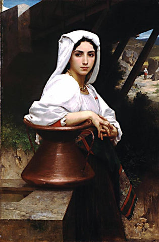 William Adolphe Bouguereau-Italian Girl Drawing Water