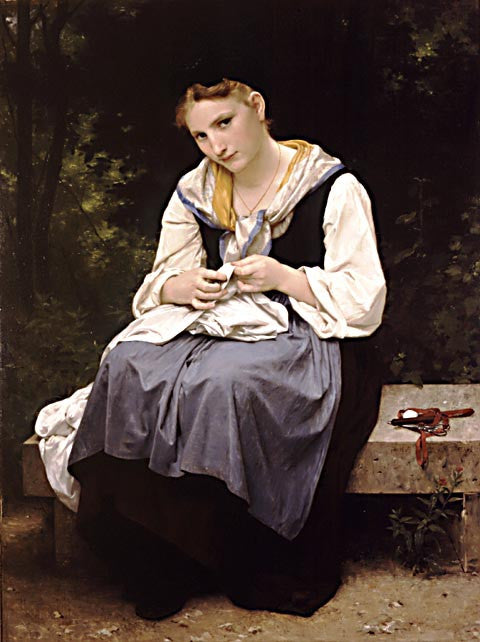 William Adolphe Bouguereau-Young Worker