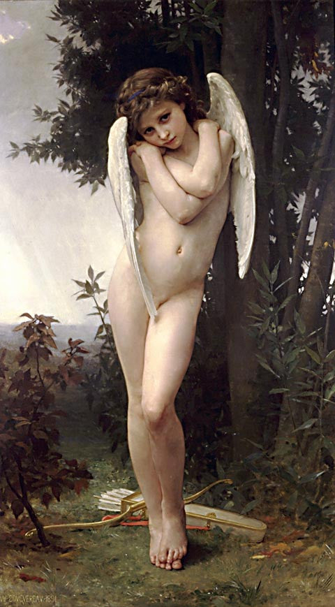 William Adolphe Bouguereau-Wet Cupid