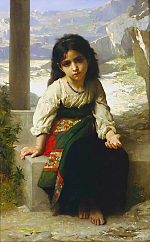 William Adolphe Bouguereau-The Small Mendiante