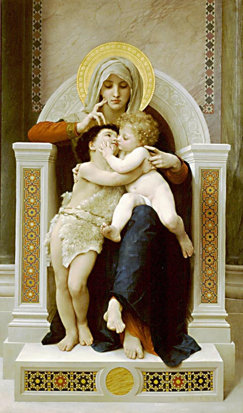 William Adolphe Bouguereau-The Virgin The Baby Jesus And Saint John The Baptist