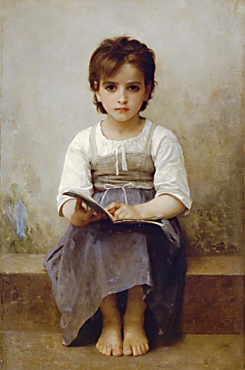 William Adolphe Bouguereau-The Difficult Lesson