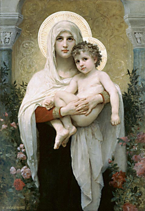 William Adolphe Bouguereau-The Madonna Of The Roses