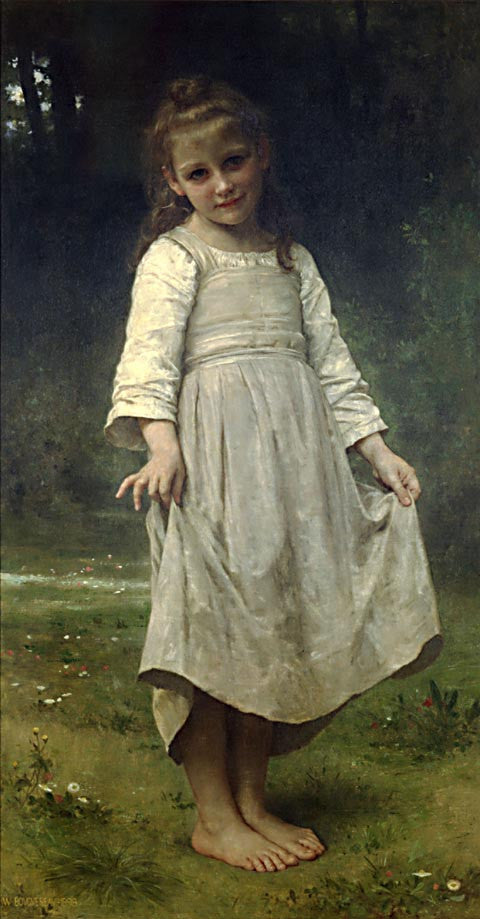 William Adolphe Bouguereau-The Curtsey